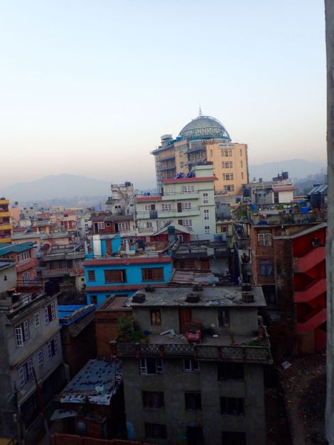 Our first view from our hotel in Kathmandu