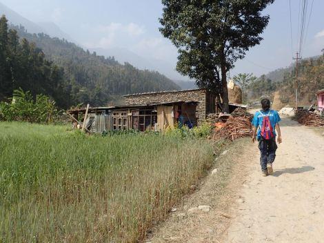 Bimala's temporary family house