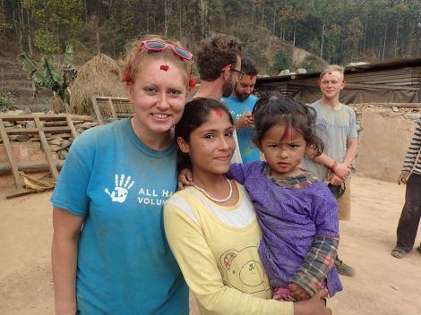 Adrienne with Maya and Maliaka